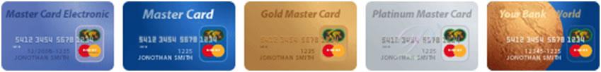Все виды пластиковых карт MasterCard