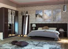 Спальня «Моника/Шоколад Глянец» Комплектация 1