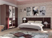 Спальня «Моника/Шоколад Глянец» Комплектация 2