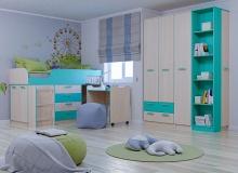 Набор мебели «Рико» ЛДСП Аква комплектация 17