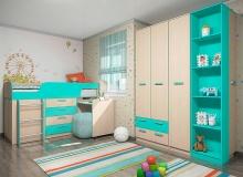 Набор мебели «Рико» ЛДСП Аква комплектация 1