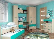 Набор мебели «Рико» ЛДСП Аква комплектация 2