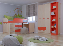 Набор мебели «Рико» ЛДСП Коралл комплектация 17