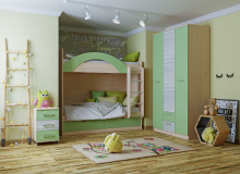 Набор мебели «Рико» ЛДСП Зеленый/Модерн компл 22