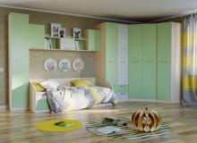 Набор мебели «Рико» ЛДСП Зеленый/Модерн компл 23