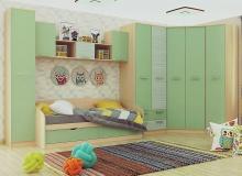 Набор мебели «Рико» ЛДСП Зеленый/Модерн компл 2